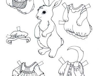 Häschen zum Ankleiden von Lily Pril