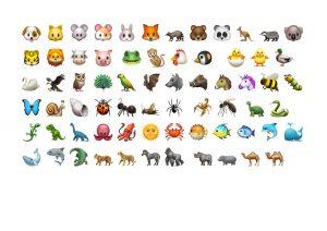 Schau genau: ein Emoji gehört nicht dazu, findest du es?