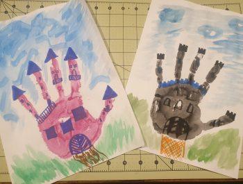 Ein Handabdruck, ein Märchenschloss