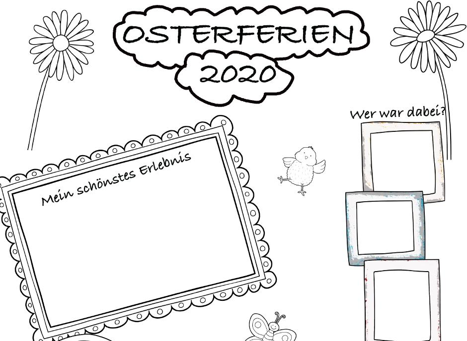 Portfolioblatt: Osterferien/Osterzeit 2020
