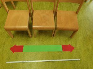 1 Meter ist so breit wie 3 Sessel! © ausprobiert.at