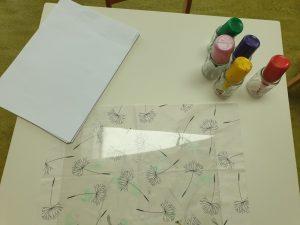 Für die Koralltechnik brauchst du Papier, Plexiglas und Acrylfarben. @ ausprobiert.at