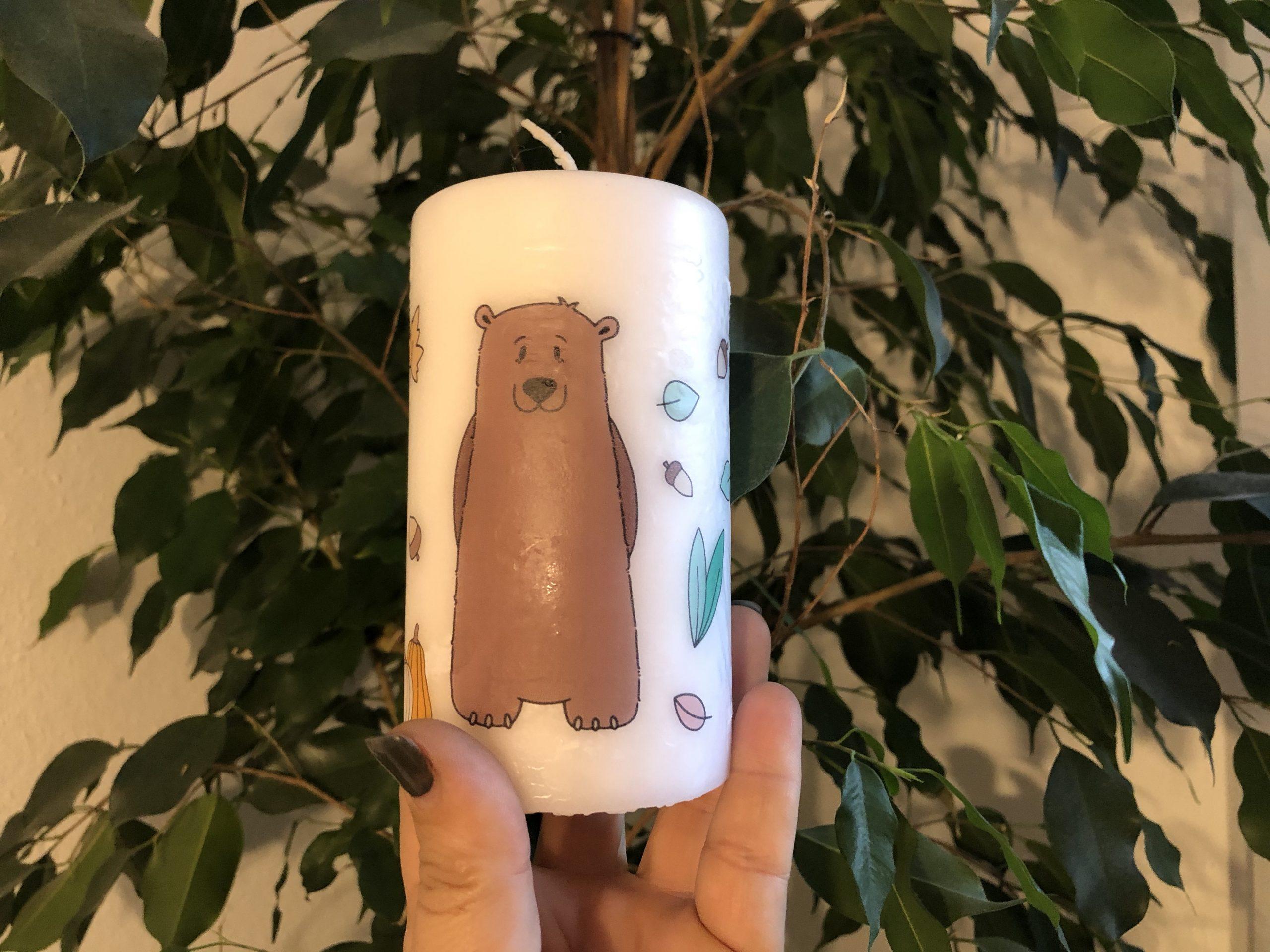 DIY: Bild auf Kerze drucken