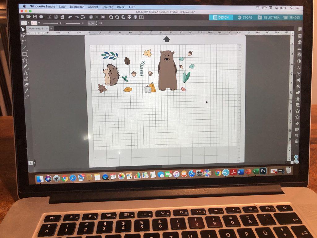Such dir ein Motiv aus, das du auf der Kerze haben möchtest. Meine Datei kommt von kleinegoehr.e Design. © ausprobiert.at