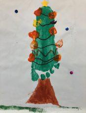 Oh Tannenbaum – ein Bild mit Fußabdruck
