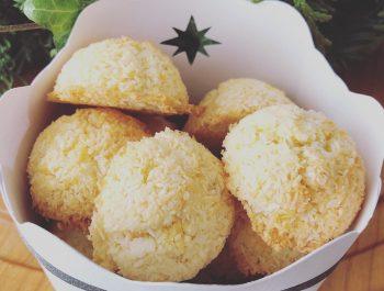 Kokosbusserl und DIY Keksschachtel