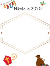 Portfolioblatt: Nikolaus 2020